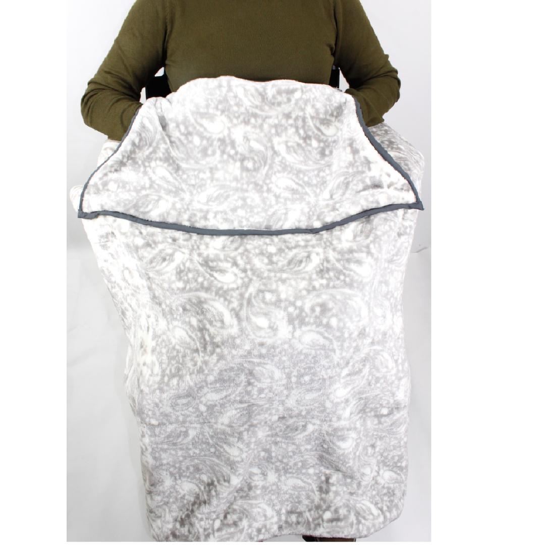 Manta doble capa con bolsillos