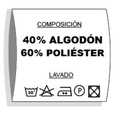 etiqueta composicion y lavado