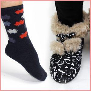 Calcetines y zapatillas
